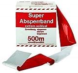 Rot / weißes Flatterband Absperrband im Karton 80 x 500 mm*