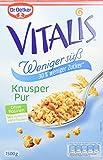 Dr. Oetker Vitalis Weniger Süß Knusper Pur: Großpackung Knuspermüsli mit 30% weniger Zucker, 2er...