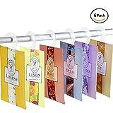 YUMSUM Fresh Kleidung Duftende Duftsäckchen 6 Pack Set mit Aufhänger geeignet für Schubladen...