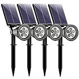 Mpow 6 LED Garten Solarleuchten für Außen, Outdoor Wandleuchte, Helle Garten Solar Licht, 2...