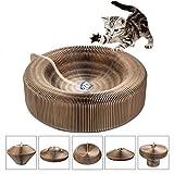 Klappbar Kratzbrett für Katzen mit Katzenminze & Ball Kratzbaum Kratzmöbel Katze Spielzeug aus...