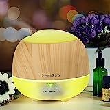 Aroma Diffuser 500ml InnooCare Luftbefeuchter Öl Ultraschall Düfte Humidifier Holzmaserung LED mit...