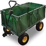 Bollerwagen ✔ herausnehmbare Plane ✔ bis 544kg belastbar - Handwagen Transportkarre Gartenkarre...