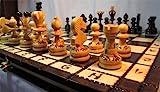 ChessEbook Schachspiel aus Holz PEARL 34 x 34 cm
