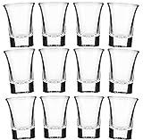 24 Schnapsgläser Glas 4cl Set   Shotgläser Pinnchen   Spülmaschinenfest   Gläser für Vodka...
