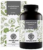 NATURE LOVE Magnesium Komplex - 400mg elementares Magnesium je Tagesdosis. Magnesiumcitrat,...
