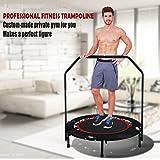 Flabor Fitness Trampolin Faltbar mit Haltestange Indoor Rebounder Gymnastik Trampolin für...