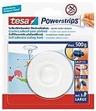 tesa Powerstrips Deckenhaken / Drehbarer Haken aus hochwertigem Kunststoff zum Kleben / Bis 0,5kg /...