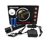 Profi Cree LED Taschenlampe Flashlight SWAT HI-Power   inkl. 2 x Li-ion Akku + Netzteil + KFZ...
