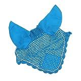 Pferdebekleidung , Fliegenmaske mit Ohrenschutz / Fliegenhauben, elegant und klassisch - Himmelblau,...