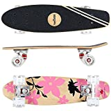 FunTomia Mini-Board Cruiser Skateboard 57cm aus 7-lagigem kanadischem Ahornholz inkl. Mach1 ABEC-11...