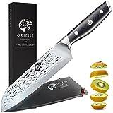 Küchenmesser 18cm Profi Santoku Messer Aus Japanischem AUS-8 Edelstahl, Kochmesser Mit Verchromter...