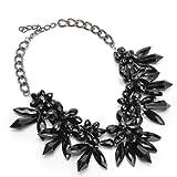 Jerollin Damen Bling-bling Schmuck Kurze Halskette mit Blumen Anhaengern aus Kristallen Damen...