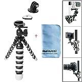 Fantaseal® Action Kamera Dreibeinstativ Kamera Dreibein Stative 2-in-1 Robust Kugelkopf Octopus...