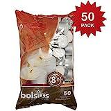 bolsius Teelichter weiß 50er Packung Brenndauer 8 Stunden