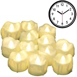 LED Kerzen mit Timerfunktion, 12er-Pack PChero Batteriebetriebene LED-Kerzen, 6 Stunden An und 18...