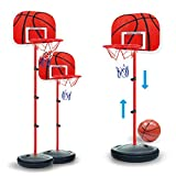TXXCI 63-150cm 4-Abschnitt Einstellbare Basketballständer Basketball-Backboard Ständer Hoop Set...