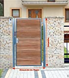 Pforte Holz Gartentor Grau Hoftor Einfahrtstor Tür Tor Törchen 105cm x 180cm