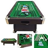 Billardtisch 8 ft Modell VINTAGE Grun Full Optional Billard Billard-Spiel Messung 220 x 110 cm neue