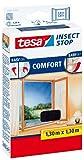 Tesa 55396-00021-00 Fliegengitter für Fenster, Kunststoff, beste tesa Qualität, anthrazit, 1,3m x...