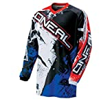 O'Neal Element MX Jersey SHOCKER Schwarz Rot Blau Motocross Cross Enduro Downhill, 0024S-50, Größe...