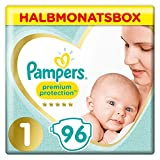 Pampers Premium Protection New Baby, Gr. 1, 2-5 kg, Halbmonatsbox, 1er Pack (1 x 96 Stück)