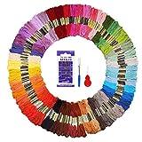 Fuyit Stickgarn Embroidery Threads 144 Docken Sticktwist Nähgarne Stickerei Basteln Crafts Floss...