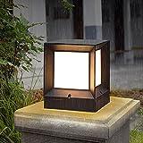 Modeen Europäische Einfachheit LED Acryl Spalte Lampe im Freien wasserdichte Tischlampe E27...