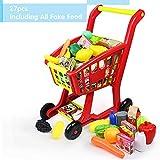 Nuheby Einkaufswagen Kinder Kaufladen Einkaufswagen für EIN Einkaufs Sensation 27 Stück Spielzeug...