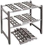 WENKO 2768010100 Küchen-Unterschrankregal Flexi - variabel, Aluminium, 44-82 x 39 x 28 cm,...