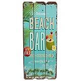 Holzschild BEACH BAR Tropical Bar Wandschild MDF Wanddeko Schild Strand Urlaub Welcome Türschild...