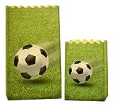 Luminaria 8562100 Lichtertüte Fußball - 8er Set, Deko Papierhüllen für Teelichte, Zellstoff,...