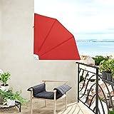 Jago Balkonmarkise Seitenmarkise Balkonfächer Sichtschutz in 3 verschiedenen Größen einzeln oder...