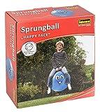 Idena 40094 - Sprungball Happy Face, 45-50 cm, blau