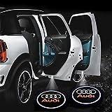 ikalula 0303logo 2 Stück Auto Logo Türbeleuchtung Transparent, 65*23*23mm