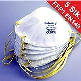 Staubmaske 5 Stück FFP1 EN149 Atemschutzmaske Feinstaubmaske Schutzmaske
