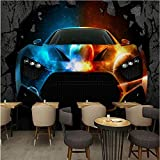 Guyuell Individuelle Fototapeten 3D Stereo Tapete Bar Ktv Cooles Auto Gebrochene Wand...