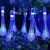 FeiliandaJJ Lichterkette Solar, String Lights 6M 30pc Wasserdicht Outdoor Garden Wassertropfen Licht...