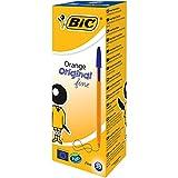 BIC Kugelschreiber Orange fine | 20 Kulis in Blau | Strichstärke 0,35 mm - fein | Dokumentenecht