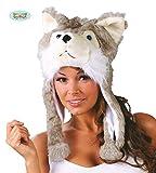 Hundemütze Husky Fell Erwachsene Kopfbedeckung Tierkappe