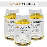 3x Carb Control+ Berberin mit Zink 90 Kapseln   Gewichtsregulierend und Diätbegleitend  ...