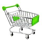 Mini Supermarkt Schubkarre Einkaufswagen Gitterwagen Kinder Spielzeug Grün