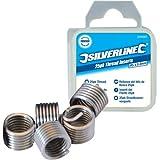 Silverline 435675 Helicoil-Gewindeeinsätze M6 x 1,0 mm, 25er-Pckg.