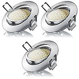 Brandson - LED Deckenspot warmweiß schwenkbar 3er Set   LED Einbauleuchte   LED Einbauspot /...