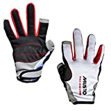 Musto Essential Sailing Long Finger Gloves in White AS0803 Sizes- - ExtraLarge