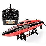 SainSmart Jr. Speedboot RC 30 km/h Ferngesteuertes Boot High-Speed Rennboot, 4CH 2.4 Ghz...