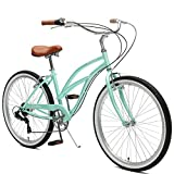 Critical Cycles Damen Chatham Seven Speed Beach Cruiser, Seafoam/Whitewall, One Size
