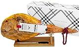 Serrano Schinken (Vorderschinken) Reserva + Schinkenhalter + Messer 4,5 - 5 Kg   Spanischer Schinken