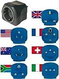 Brennenstuhl Reisestecker-Set, Steckdosenadapter (mit verschiedenen Aufsätzen für mehr als 150...