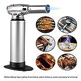 FEMOR Küchenbrenner Flambierbrenner Butangasbrenner mit Sicherheitsschloss und einstellbare Flamme...